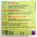 Die Sterne - Wichtig Mini CD Back