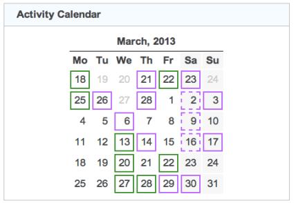 activity calendar 20130331