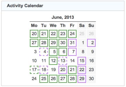 activity calendar 20130630
