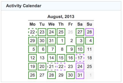 activity calendar 20130831