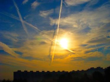 Sky over the city of Brno