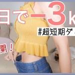 【体重公開…】3日間で何キロ痩せられる!?私の超短期間ダイエットレシピ!【プチ断食】