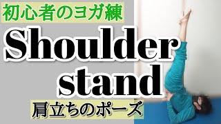 【初心者のヨガ練習】肩立ちのポーズ🧘♂️ストレッチ、リラックス、ダイエットにも◎∣【biginers yoga】shoulder stand(salamba servanga)