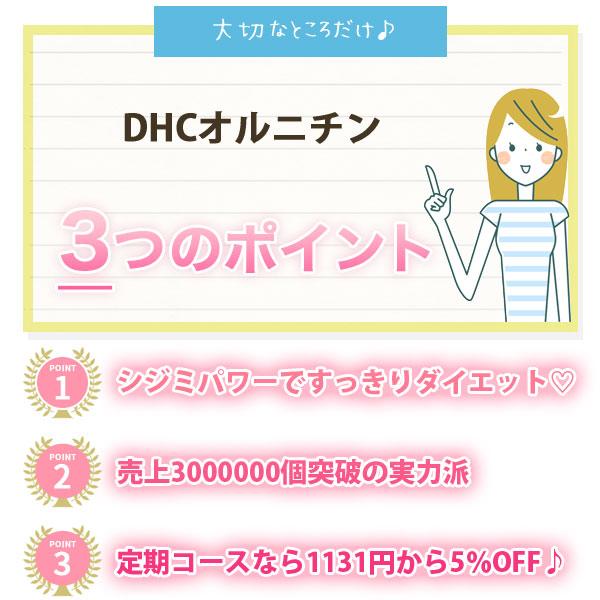DHCオルニチンの3つのポイント画像