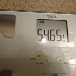 糖質制限72日目の体重と体脂肪