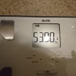 糖質制限73日目の体重と体脂肪