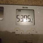 ダイエット78日目の体重と体脂肪