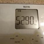 ダイエット87日目の体重