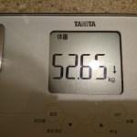 ダイエット116日目の体重
