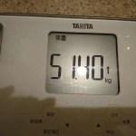 ダイエット175日目の体重