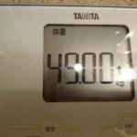 ダイエット343日目の体重体脂肪と食事、糖質量