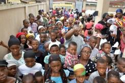 Children waiting...   Photo credits by Diet234 Team