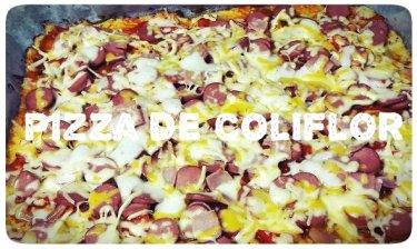 pizza keto con masa de coliflor