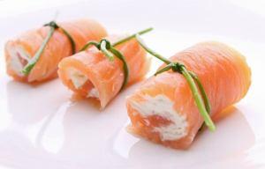 salmon y queso crema