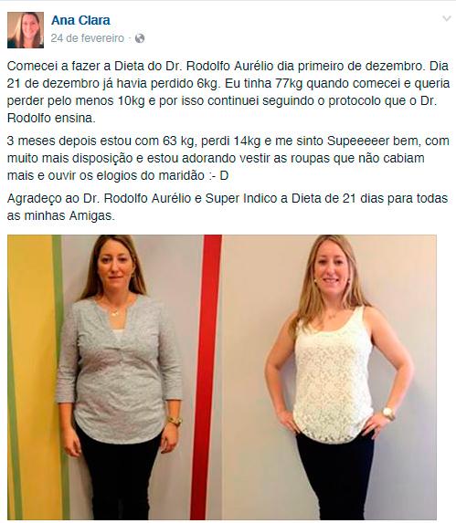 Comentário sobre dieta de 21 dias