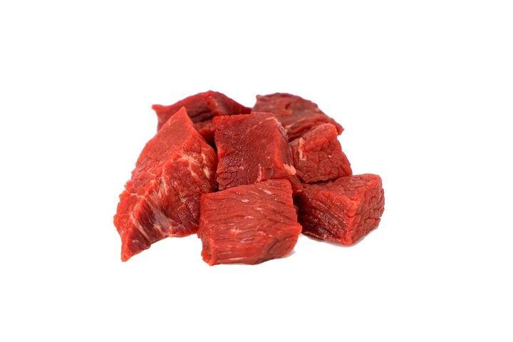 carne roja poco