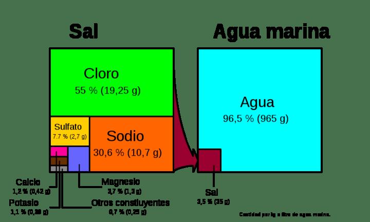 composicion sal