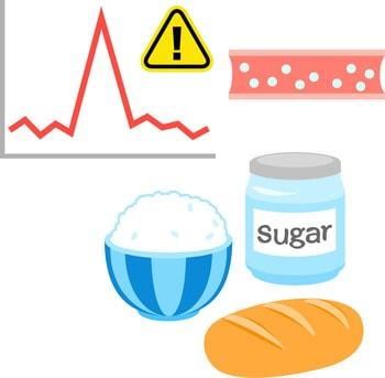 急激な血糖値の上昇イラスト