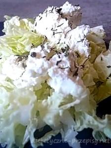 makaron z białym serem i kapustą