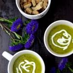 Zupa krem z cukinii z dietetycznymi grzankami