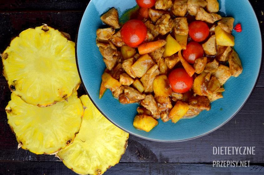 Kurczak Po Tajsku W Czerwonym Curry Z Ananasem Dietetyczne