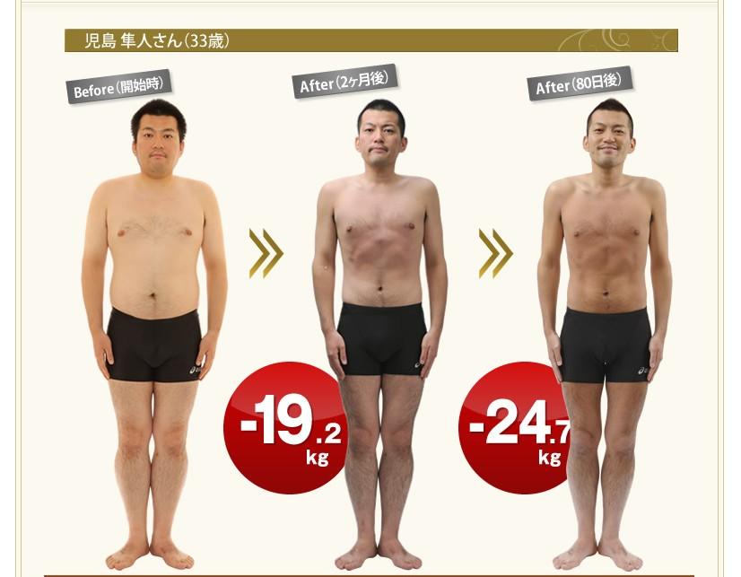 ライザップ効果20キロ痩せた人