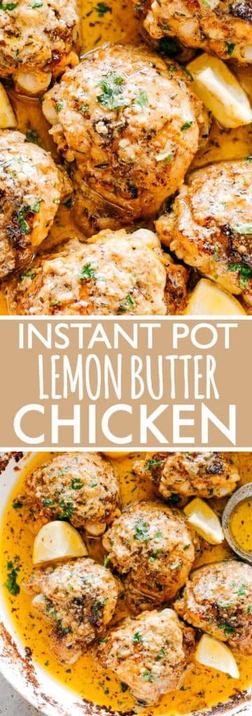 Instant Pot Lemon Butter Chicken Thighs | Easy Keto ...