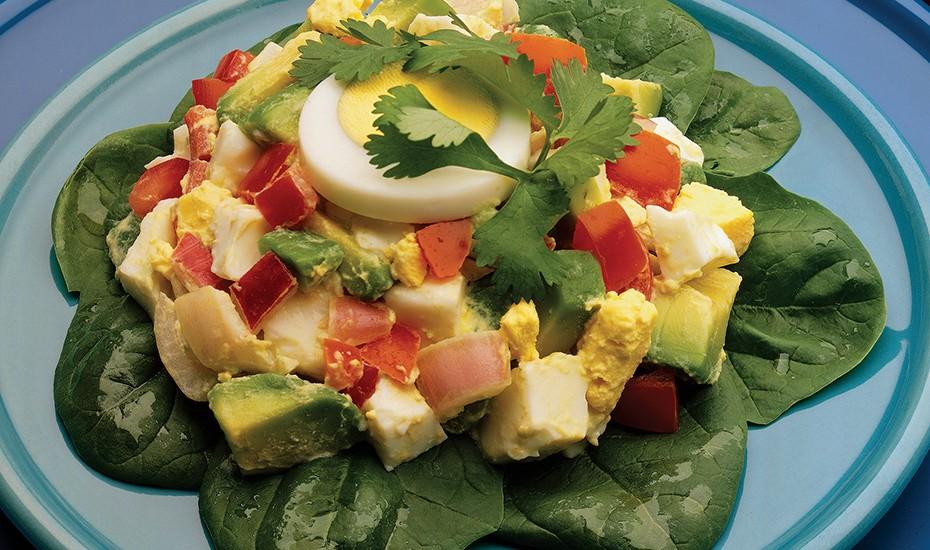 Salata de ou: Informații nutriționale