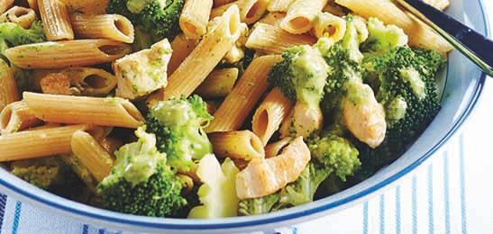 gezond recept Leuven diëtist pasta warme maaltijd kip