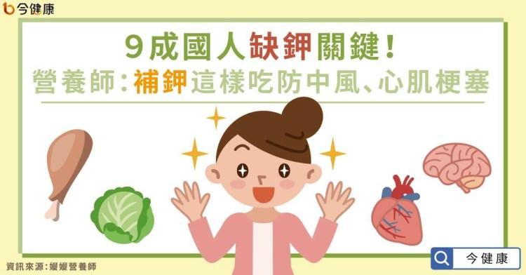 [今健康採訪]9成國人缺鉀關鍵!營養師:補鉀這樣吃防中風、心肌梗塞