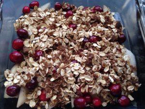 Fresh Cranberry & Pear Crisp (Vegan, Vegetarian, Dairy-Free, Egg-Free, Gluten-Free Dessert)