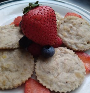 Vegan, vegetarian, plant-based, egg-free, dairy-free mini lentil banana pancake recipe