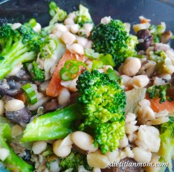 Vegan, Plant-based, Egg-Free, Dairy-Free, Gluten-Free, White Navy Beans, Broccoli, White Bean Veggie Stir-Fry Chinese Asian Recipe, Main Course, Entree, Meal, Weeknight Dinners