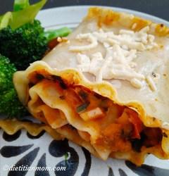 Vegan, Vegetarian, plant-based, egg-free, dairy-free, gluten-free, nut-free, lasagna, entree, main course, quick, easy, vegan eggplant bean lasagna rolls