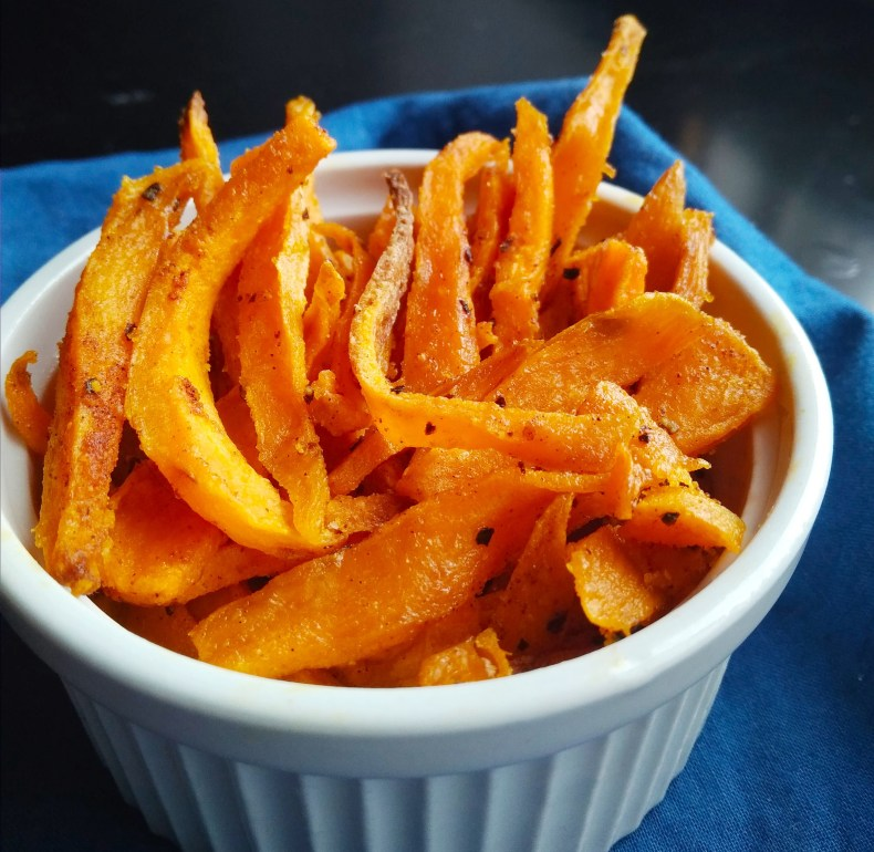 Vegan, plant-based, fast easy vegan recipes, egg-free, dairy-free, nut-free, gluten-free, plant-based, vegetarian, finger lickin' sweet potato fries, sides, snack recipe