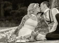 Kuss des Hochzeitspaares