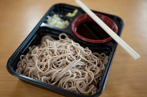 Japanese Cuisine Soba Bento (弁当:Lunch box)