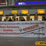 Identitäre besetzen Frankfurter Hauptbahnhof und protestieren am Flughafen