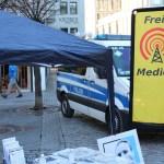 Freie Medien: Polizei stoppt Attacke auf Info-Stand in Bonn