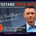 David Berger im persönlichen Gespräch kennenlernen! – Samstag 9.3. am WDR-Funkhaus in Köln