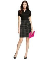 Brooks Brothers Silk Button Down Skirt