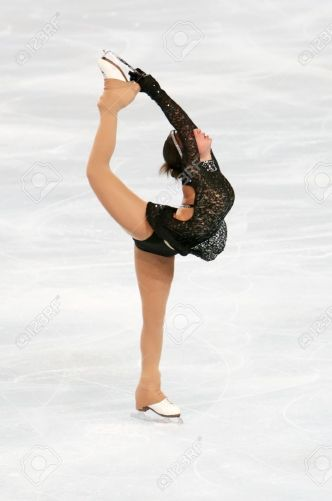 Athlete Georgian-figure-skater-Elene-GEDEVANISHVILI-during-the-Ladies-short-skating-event-of-the-Eric-Bompar-Stock-Photo