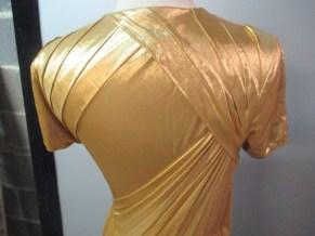 Bottega Veneta Gold Gown back