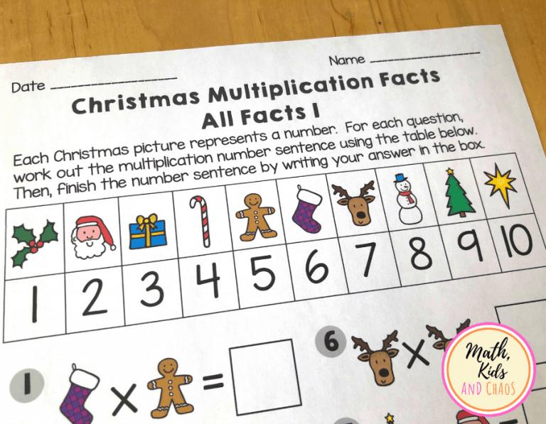 Free Printable Holiday Multiplication Worksheets