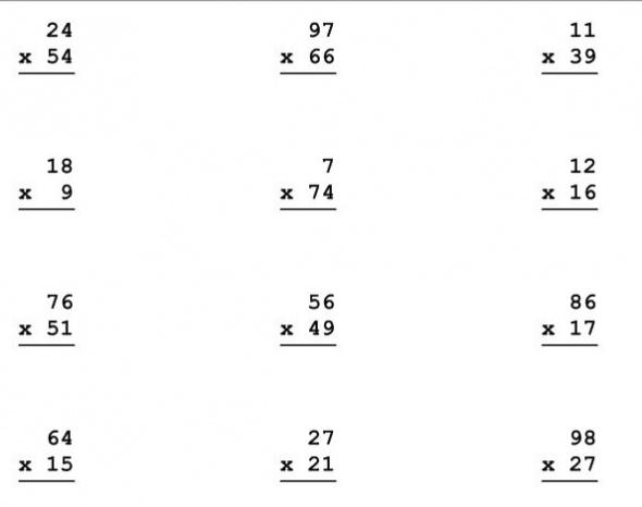 Math Multiplication Worksheets Hard