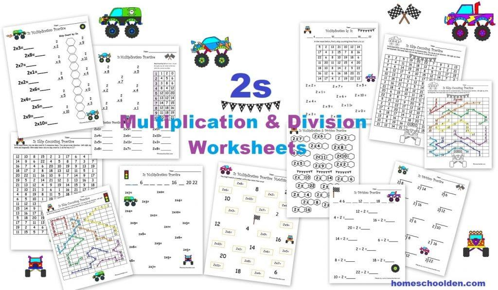 Multiplication Facts Worksheets By 2