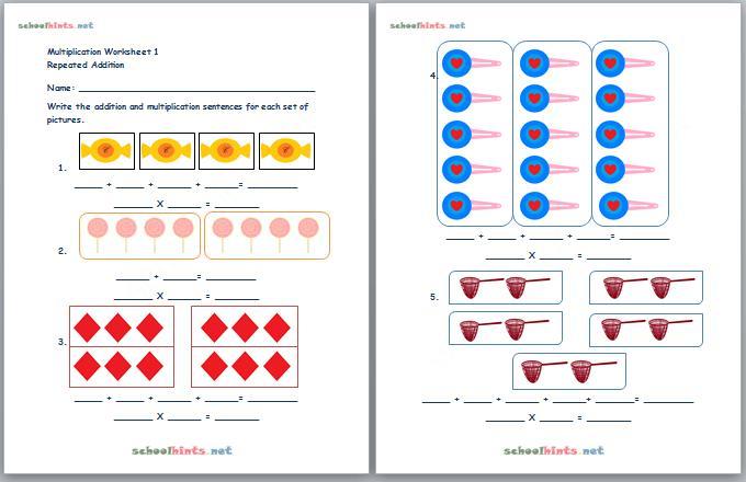 Multiplication Worksheet Beginning