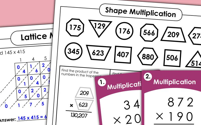 Multiplication Worksheets Entry Level 3 8