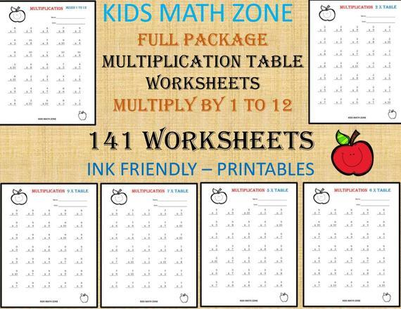 Multiplication Worksheets For 4th Grade Pdf