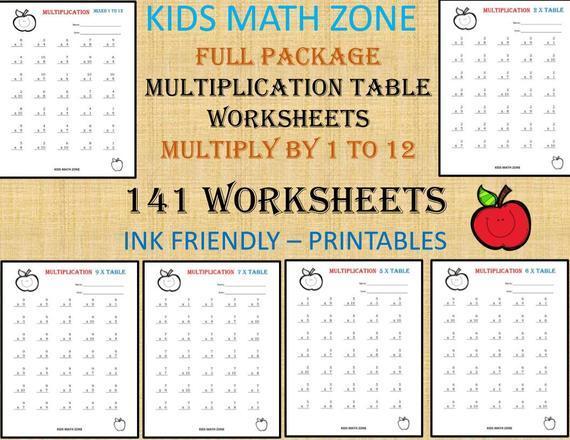 Multiplication Worksheets For Grade 1 Printable